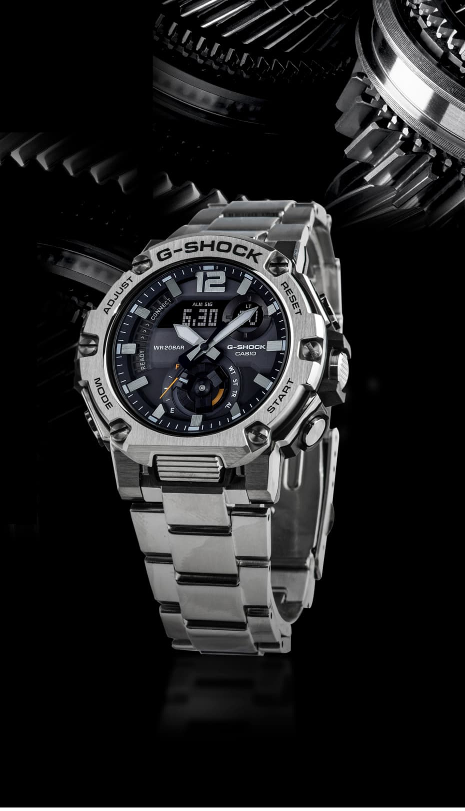 reloj de metal plateado g-shock de CASIO Cronoland